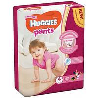 Подгузники-трусики Huggies Pants для девочек 4 (9-14 кг), Mega Pack 52 шт