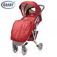 Яркая детская прогулочная коляска для девочки красного цвета 4Baby Smart.