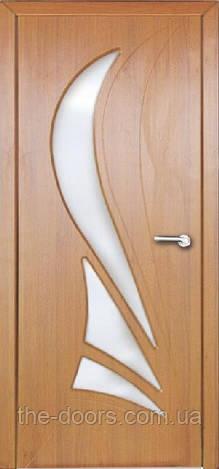 Двери межкомнатныеКорона со стеклом пленка ПВХ
