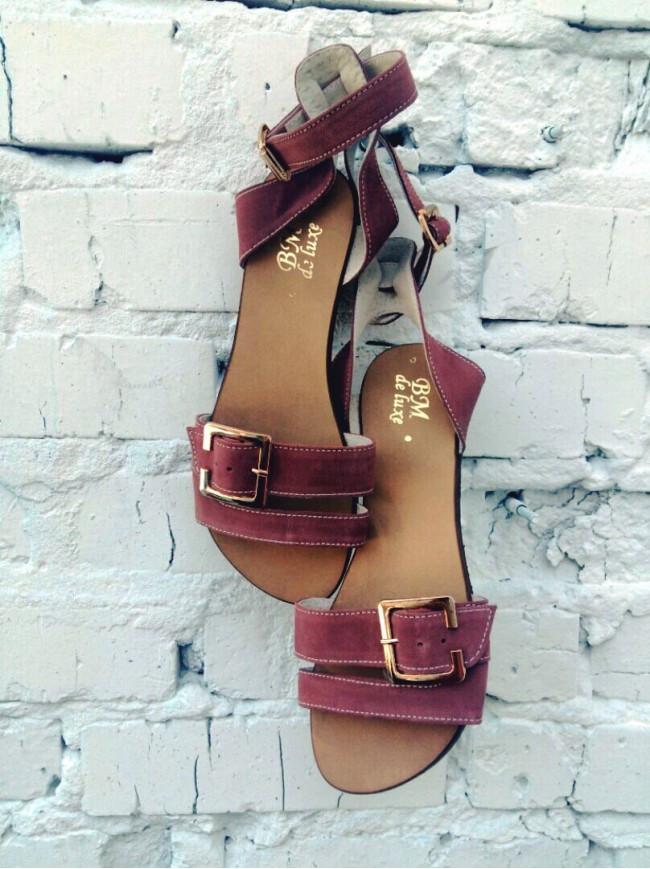 Женские сандалии из натуральной замши цвета кении JUICE KENIA SUEDE