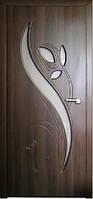 Двери межкомнатные Тюльпан со стеклом пленка ПВХ