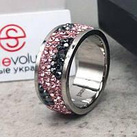 Женское кольцо с разноцветными кристаллами Swarovski 15-20 р 102812
