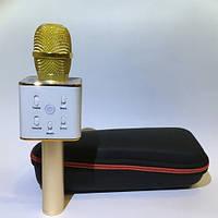 Микрофон + караоке Bluetooth Q7+ чехол, фото 1