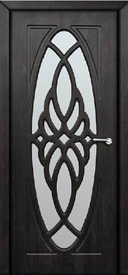 Дверное полотно Орхидея со стеклом пленка ПВХ