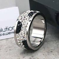 Женское кольцо с разноцветными кристаллами Swarovski 15-20 р 102813