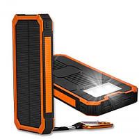 Внешний аккумулятор Power Bank Solar 20000 mah (фонарь+ USB кабель), фото 1