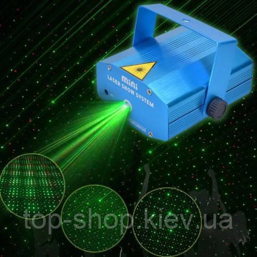 Мини лазерный проектор стробоскоп лазер шоу