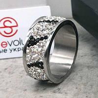 Женское кольцо с разноцветными кристаллами Swarovski 15-20 р 102815