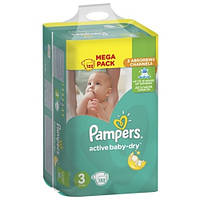 Подгузники Pampers Active Baby-Dry Midi 4-9 кг, 152 шт (Памперсы), фото 1