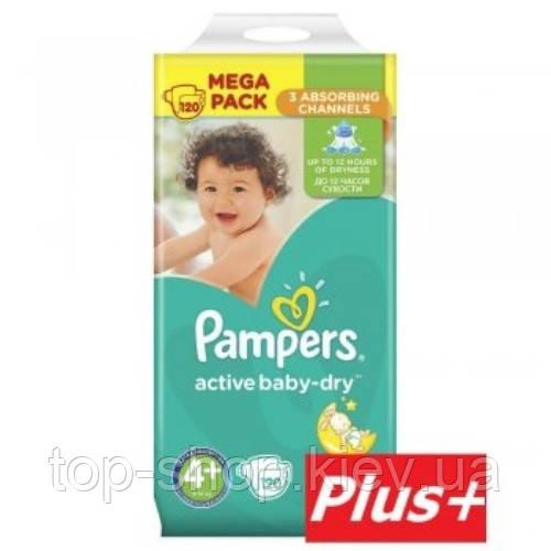 Подгузники Pampers Active Baby-Dry Maxi Plus 4+(9-16 кг) 120 шт (Памперсы)