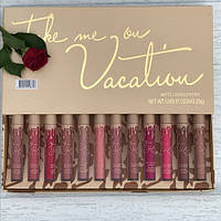 Набор KYLIE matte liquid lipstick & lip liner 12шт ( Кайли )