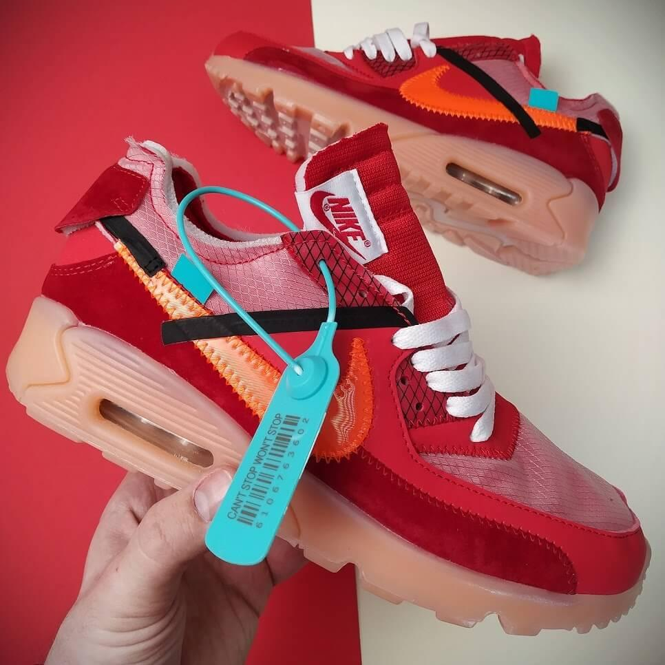size 40 bb2c6 c5846 Кроссовки Nike Air Max 90 Off White Red