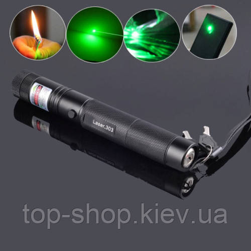 Потужний лазер 500 mW. Green Laser Pointer YL-Laser 303