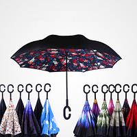 Умный зонт обратного сложения UP-BRELLA монотонный!, фото 1