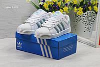 Женские кроссовки в стиле Adidas Superstar, белые 37 (23,5 см)