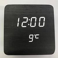 Электронные часы LED Wooden Clock VST-872