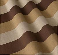 Уличная ткань в полоску коричневый беж серый. Дралон. Испания LD 84338 v1