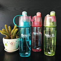 Спортивная бутылка для воды с распылителем New. B 600 ml