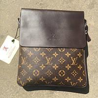 Мужская сумка Louis Vuitton, коричневая Луи Виттон