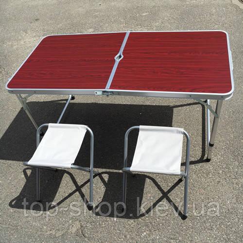 Стол и 4 стула комплект для кемпинга, туризма, сада, стол туристический, фото 1