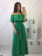 Длинное женское летнее платье