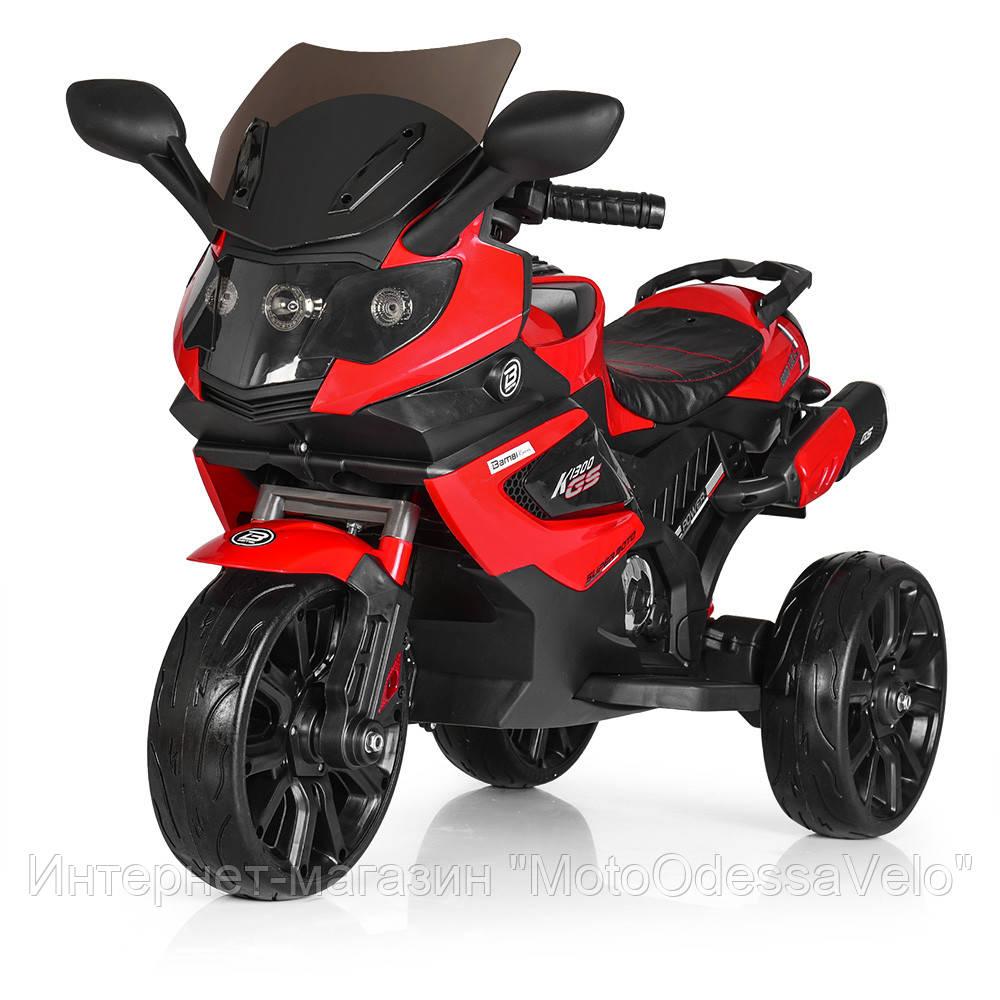 Детский електромотоцикл Bambi красный