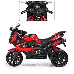 Детский електромотоцикл Bambi красный, фото 2