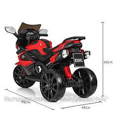 Детский електромотоцикл Bambi красный, фото 3