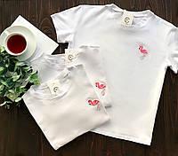 Женская белая футболка из хлопка