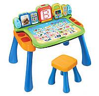 Детский интерактивный сенсорный столик-мольберт со стульчиком, VTech США