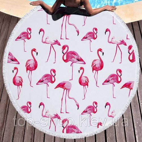 Пляжный коврик мандала Фламинго Flamingo