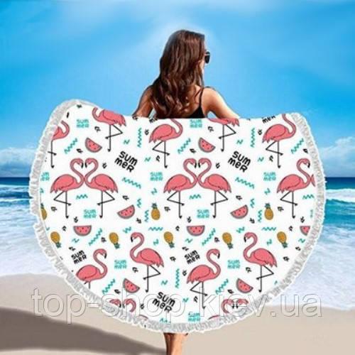 Пляжный коврик мандала Фламинго Summer Flamingo