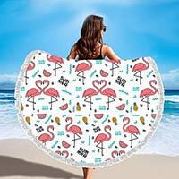 Пляжный коврик мандала Фламинго Summer Flamingo, фото 1