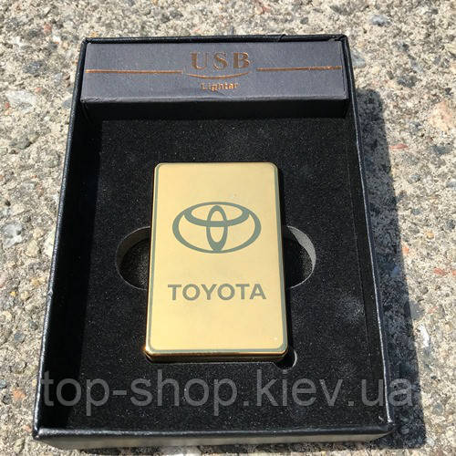 Электроимпульсная зажигалка usb Toyota