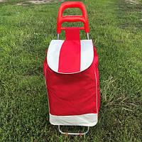 Тачка сумка с колесиками кравчучка красная