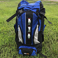 Рюкзак туристический 90 л синий, фото 1