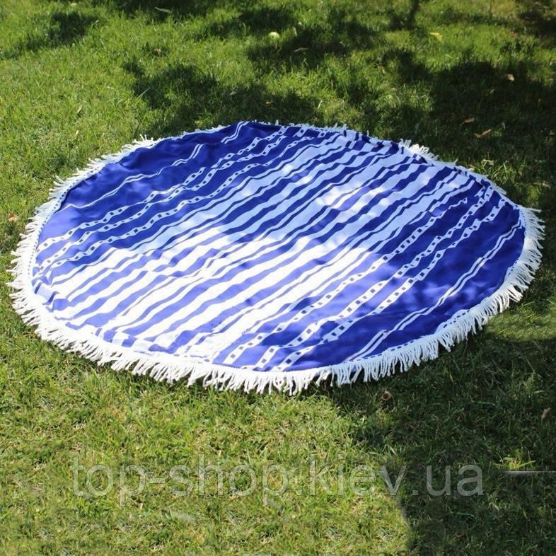 Пляжный коврик Мандала синий 150 см