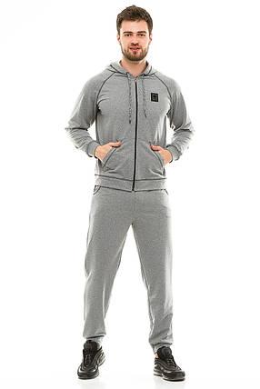 Мужской спортивный костюм 703 темно-серый, фото 2