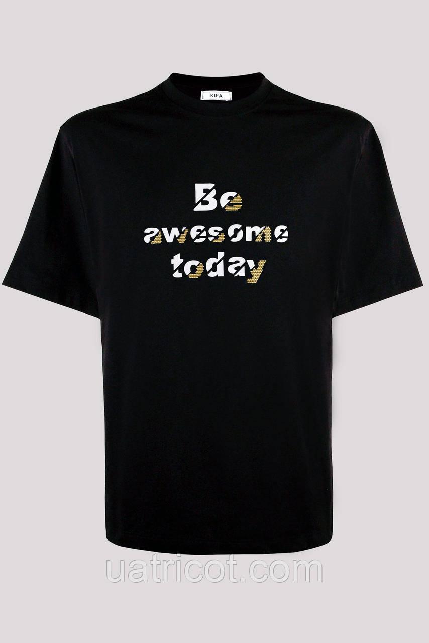 Футболка мужская KIFA ФМХ-019/15 Be awesome today черная