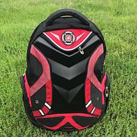 Городской и школьный рюкзак красный, фото 1