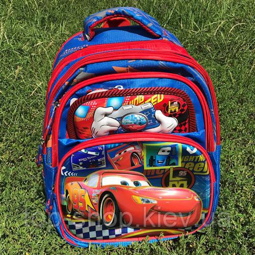 ba83c46830f2 Рюкзак для первоклассника с ортопедической спинкой 3D Тачки / Молния Маквин  (Cars)