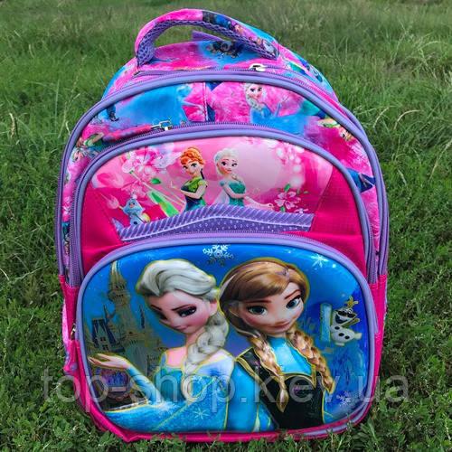 Рюкзак школьный для девочки 3D Холодное сердце (Эльза), фото 1