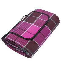 Водонепроницаемый коврик для Пикника Клетка (Purple), фото 1