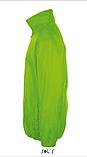 Ветровка SOL'S, салатовая ветровка унисекс под заказ, фото 2