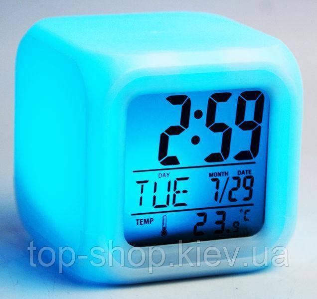 Годинник Будильник Хамелеон з Термометром