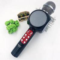 Беспроводной микрофон караоке bluetooth WSTER WS-1816 Black, фото 1
