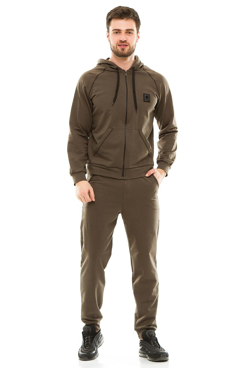 Мужской спортивный костюм 703 оливковый