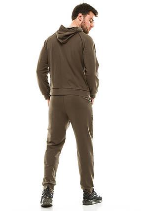 Мужской спортивный костюм 703 оливковый, фото 2