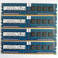 Комплект оперативной памяти Hynix DDR3 16Gb (4*4Gb) 1600MHz PC3 12800U 1R8 CL11 (HMT451U6AFR8C-PB N0 AA) Б/У