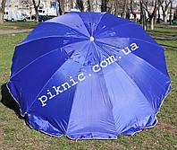 Торговый зонт 2,5м уличный с клапаном 12 спиц круглый Зонт для торговли на улице сада Синий 351